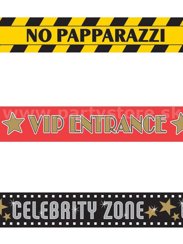 "Páska vyznačovacia "" Hollywood Party "" 3 x 9,14 m x 6,5 cm, PVC"