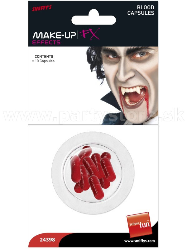 "Krv v kapsuliach "" MAKE-UP FX Effects "" 10 ks"