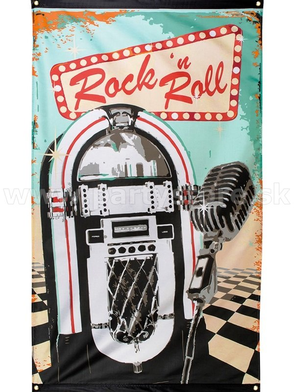 Banner - 50´s CLASSIC ROCK N ROLL - 150 x 90 cm, Polyester