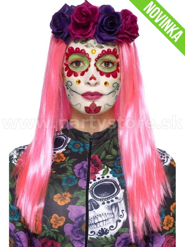 Make Up - Suprava - Day of the Dead - Sugar Skull - farby + apli