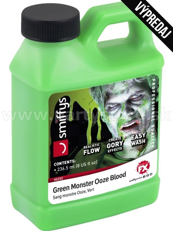 Krv - MONSTER - 236,58 ml, zelený slíz v kanistri