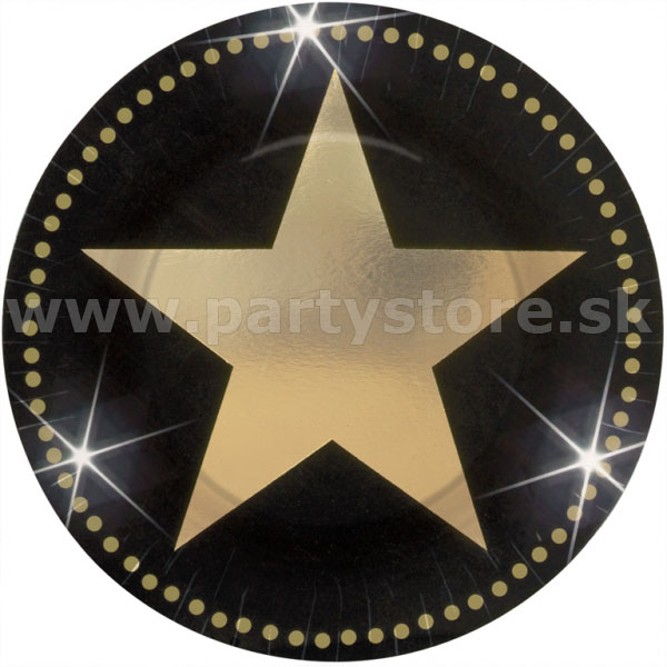 "Taniere "" Hollywood Gold Stars "" Ø 17,8 cm, bal. 8 ks, papi"