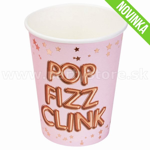 Poháre - Glitz & Glamour - POP FIZZ CLINK - 255 ml, bal. 8 ks