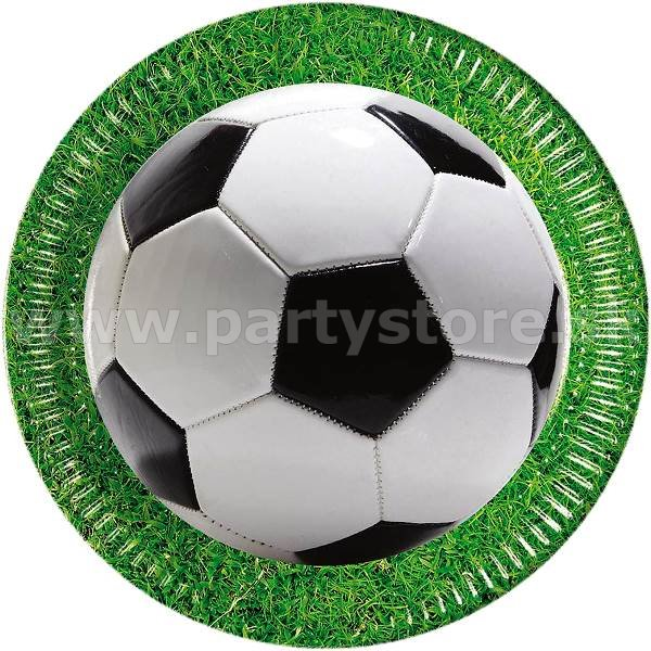 Taniere - Football Party - priemer 23 cm, bal. 8 ks, papier