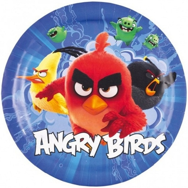 "Taniere "" Angry Birds Movie "" 18 cm, bal. 8 ks, papier"
