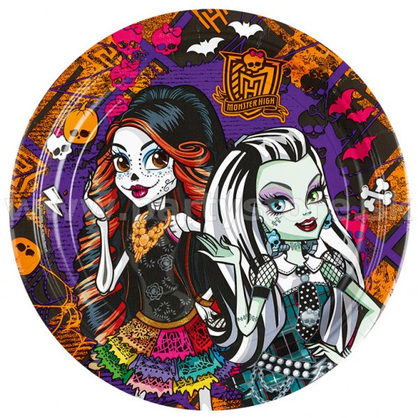 "Taniere "" Monster High - Halloween "" 23 cm, bal. 8 ks, papier"