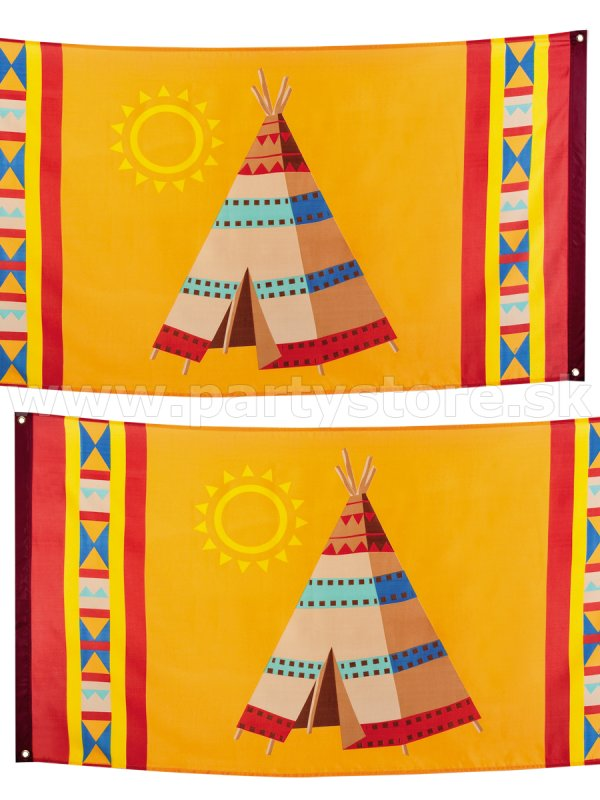 Banner - INDIAN TEEPEE - 150 x 90 cm, 100% Polyester