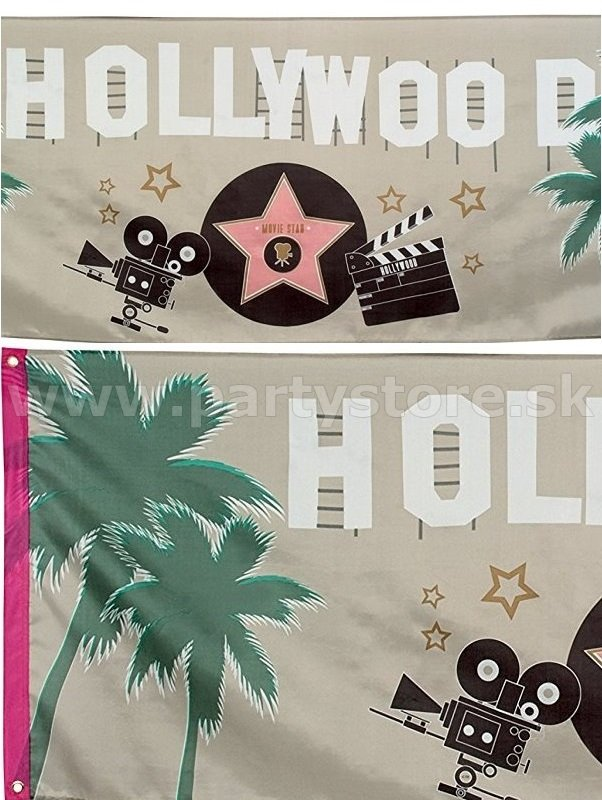 Banner - Hollywood Movie Star - 220 x 74 cm, 100% Polyester