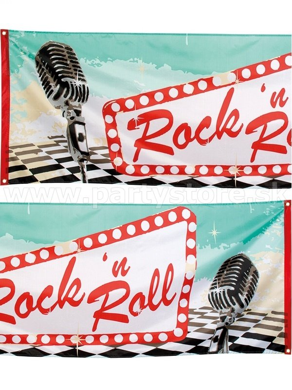 Banner - 50´s CLASSIC ROCK N ROLL - 220 x 74 cm, Polyester