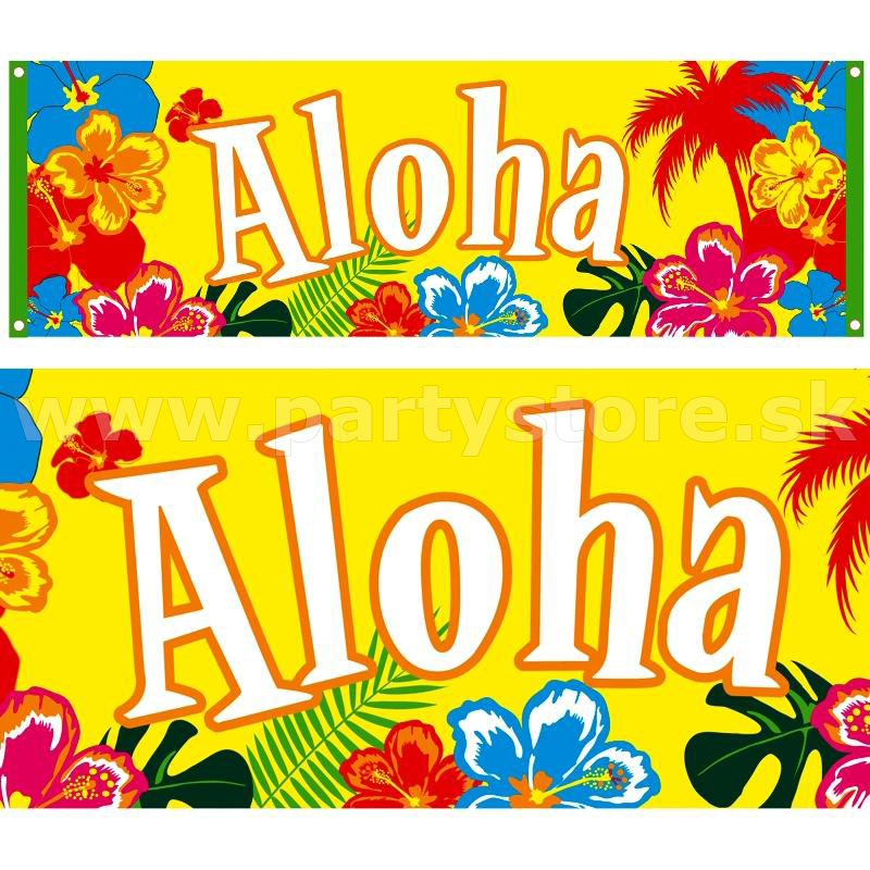 "Banner "" Aloha from Hawaii "" 220 x 74 cm, 100% Polyester"
