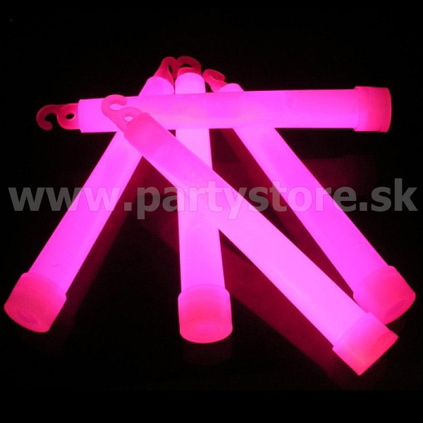"Glowstick - Set 6 ks "" FunGlow - 150 x 17 mm "" ružový"