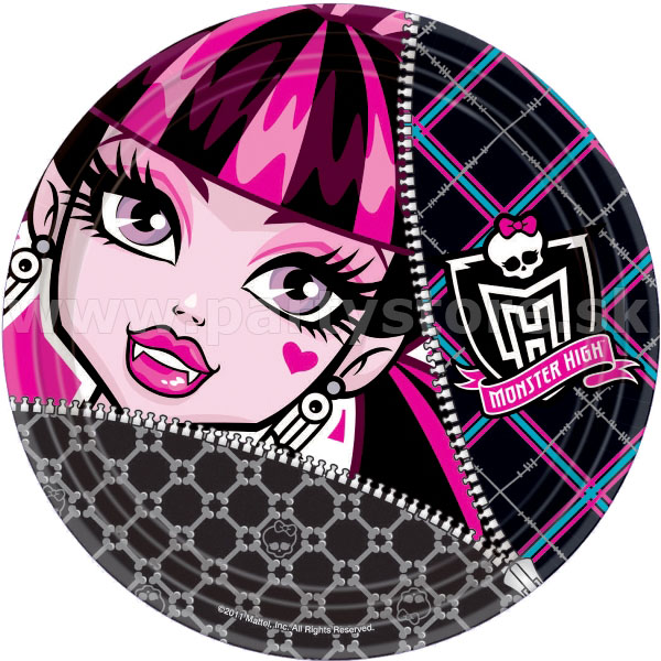 Taniere - MONSTER HIGH - priemer 23 cm, bal. 8 ks , papier