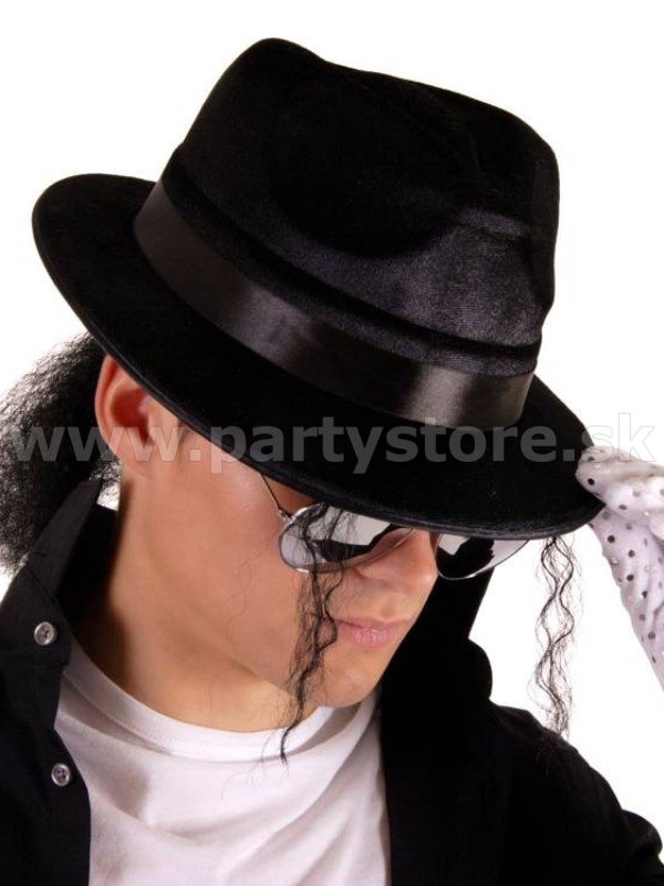 Klobúk - The King of Pop - Fedora Trilby Collection, čierny