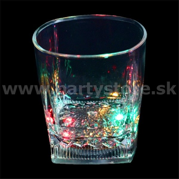 Pohár svietiaci LED - ROCK OLD JASPER MULTICOLOR - 295 ml, akryl