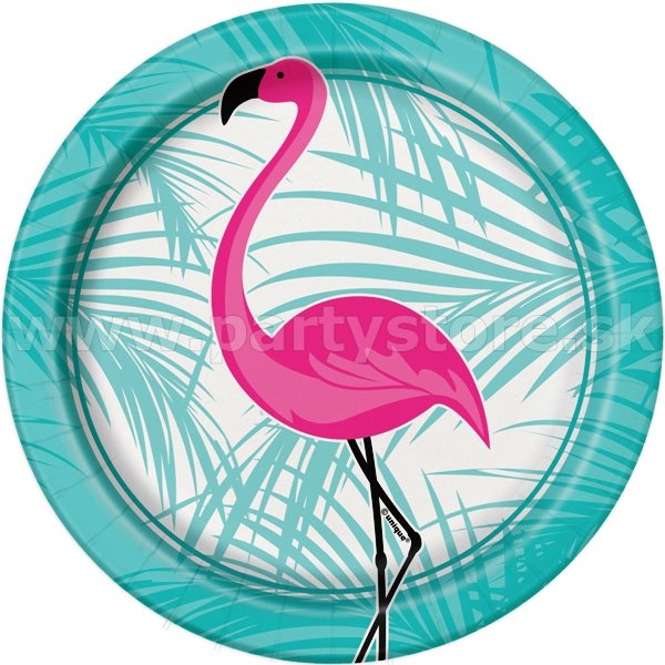 "Taniere "" Pink Flamingo Party "" Ø 18 cm, bal. 8 ks, papier"