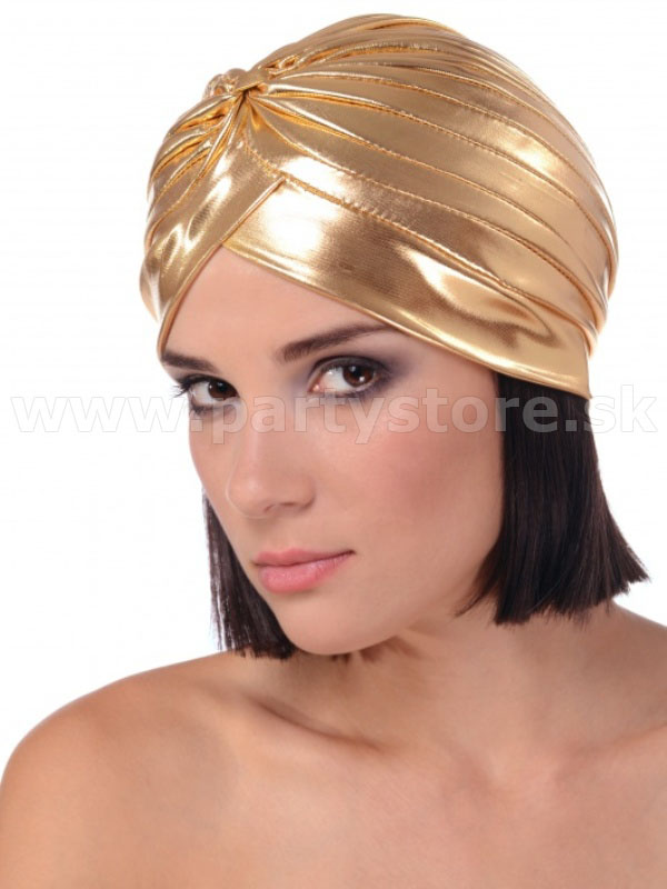 "Turban "" 1920´s Metallic Vintage Fashion "" zlatý"