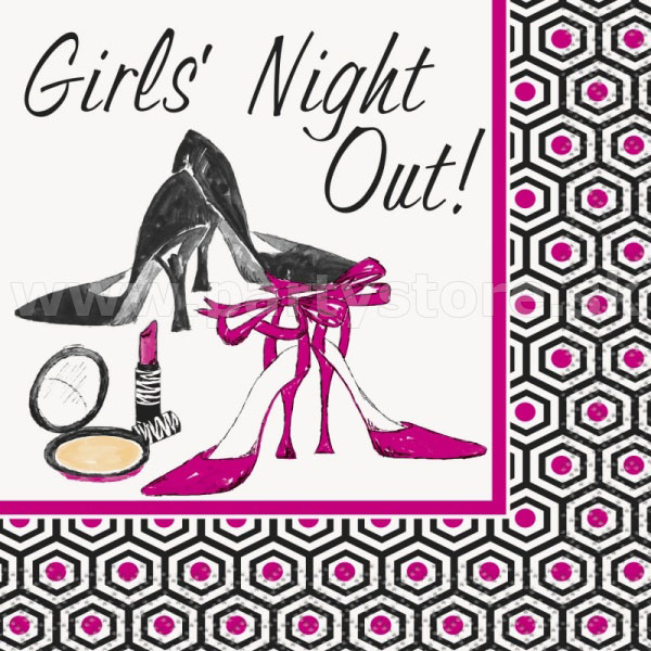 "Obrúsky "" Girls´ Night Out ! "" 25,4 x 25,4 cm, bal. 16 ks"